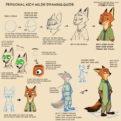 Nick Wilde (Zootopia) Drawing Reference and Sketches for Artists Fox Character, Character Model Sheet, Character Drawing, Disney Sketches, Disney Drawings, Cartoon Drawings, Zootopia Characters, Zootopia Art, Zootopia Concept Art
