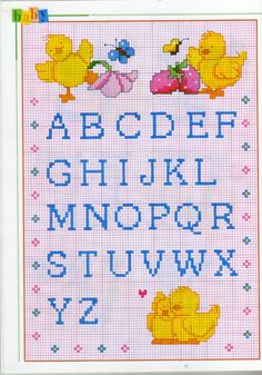 Gallery.ru / Фото #161 - 3 - KIM-3 chicken Alphabet cross stitch chart