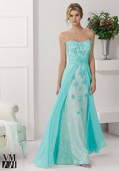 Wedding Dresses Ball Gown Chic Chiffon & Lace Sweetheart Neckline Floor-length A-line Mother Of The Bride Dress prom dress 6359 A Line Prom Dresses, Lace Evening Dresses, Mermaid Prom Dresses, Ball Dresses, Evening Gowns, Strapless Dress Formal, Lace Dress, Ball Gowns, Wedding Dresses