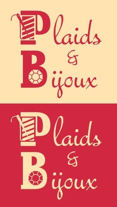 Logo plaids & bijoux, d'une artisane de bijoux et d'une artisane de plaids.
