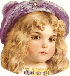 CatnipStudioCollage: Hood's Sarsaparilla 1897 Calendar Girl