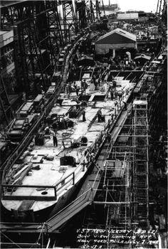 USS New Jersey under construction in the Navy Yard, Philadelphia July 1942
