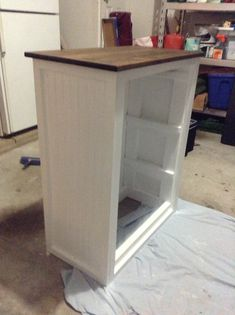 Laundry Basket Organizer - Wainscoting/Beadboard on backs and sides - just add doors from last pin :)