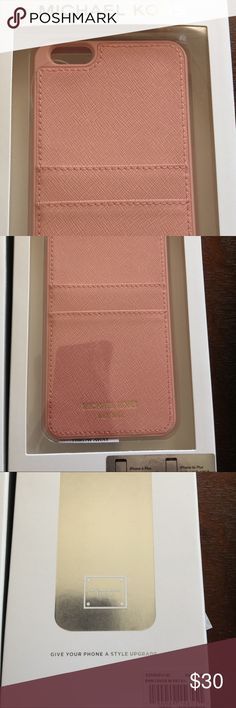 MICHAEL KORS CASE Super cute Michael KORS iPhone 6+ case in pale pink if you have any Q? Please don't hesitate to ask!  thanks happy poshing Michael Kors Accessories