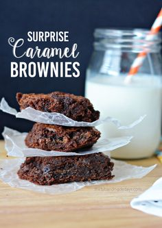 Surprise Caramel Brownies - they taste so great and are simple to make!  You need these brownies in your life!