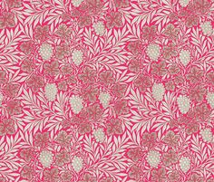 William Morris ~ Jungle Vines ~ Courtesan  fabric by peacoquettedesigns on Spoonflower - custom fabric