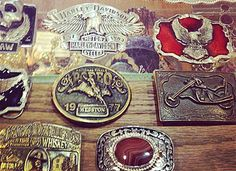 Gift for Him: vintage belt buckles at Feathers Boutique in Austin