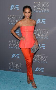 Zoe Kravitz aux Critics' Choice Awards 2016