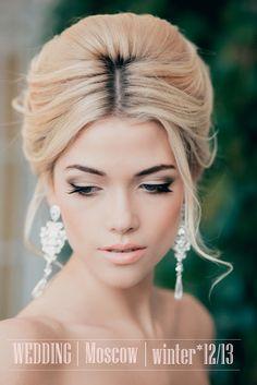So pretty!  Perfect bridal hair and make up