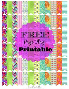 FREE Printable Page Flags Via: AndreaNicoleBlogs #Freeprintable #pageflags #planner