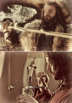 Thorin + Aragorn: you could not wish for a finer blade #thehobbit #lotr