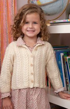 Clever Cabled Cardigan Free Knitting Pattern from Red Heart Yarns