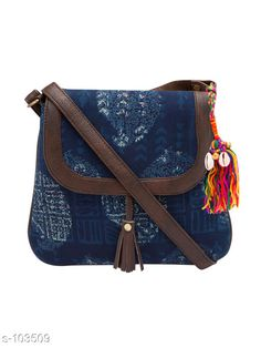 Slingbags Trendy Cotton Women Sling Bag  *Material* Cotton   *Dimension (L X W X H)* 10 in X 1 in X 10.5 in   *No  Of  Compartments* 2   *Gender* Women   *Description* It Has 1 Piece Of Women Sling Bag   *Work* Printed  *Sizes Available* Free Size *   Catalog Rating: ★4.2 (587)  Catalog Name: Must-Have Bags Vol 4 CatalogID_10260 C73-SC1075 Code: 214-103509-