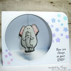 Project: Elephant Spinner Card
