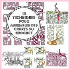 MES FAVORIS TRICOT-CROCHET: 15 techniques pour assembler des carrés au crochet...