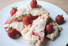 Strawberry Scones -tweek with maple sugar, cake spice and almond. Yumm.  Sophia will be 1 happy kiddo in the am