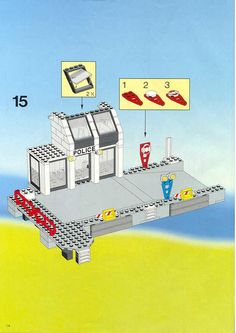 LEGO 6540 Pier Police instructions displayed page by page to help you build this amazing LEGO Town set Lego Police, Lego System, Hero Factory, Lego Bionicle, Lego Design, Lego Instructions, Lego Building, Lego Sets, Legos