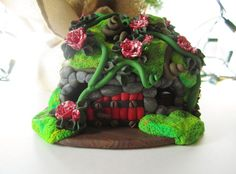 Fairy house Ornament by DawnsClayFantasy on Etsy