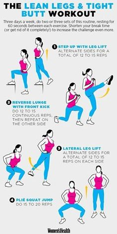 Photo: Some great moves to lean out your legs and butt.