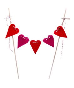 Another great find on #zulily! Mini Heart Bunting #zulilyfinds