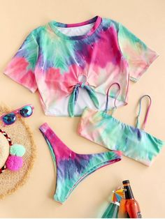 Bathing Suits For Teens, Cute Bathing Suits, Girls Fashion Clothes, Fashion Outfits, Style Fashion, Outfits For Teens, Girl Outfits, Mode Du Bikini, Cheap Swimsuits