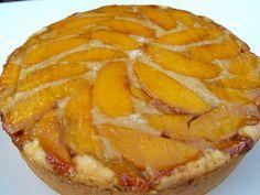 Upside down peach cake!