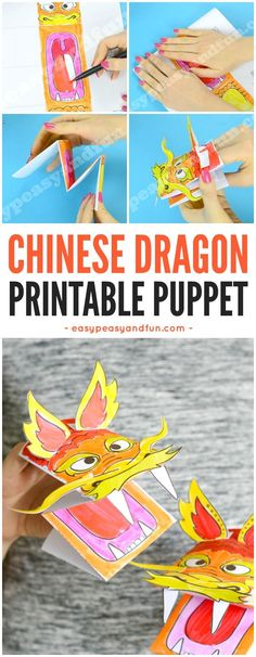Template For Chinese New Year Printable Dragon Puppet Http