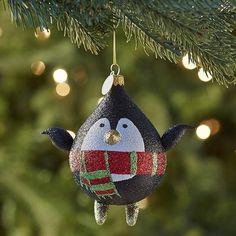 European Glass Penguin Ornament