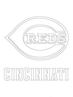 Major League Baseball Mlb Coloring Pages Cincinnati Reds Sports Coloring Pages Baseball Coloring Pages