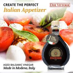 Due Vittorie Oro Gold Balsamic Vinegar of Modena in Glass Decanter - 8.45fl oz / 250ml with Cork Pourer - Special Edition Balsamic Vinegar Of Modena, Aged Balsamic Vinegar, Organic Fruit, Decanter, Gourmet Recipes, Appetizers, Glass, How To Make, Cork