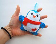 Felt Penguin Christmas Ornament, Baby Holiday Ornament A340 Etsy.