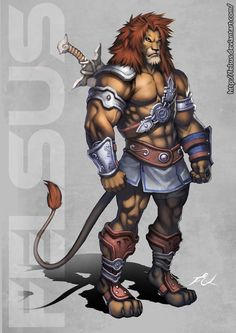 Lion Male by Felsus -- I love this blend of human and animal features.