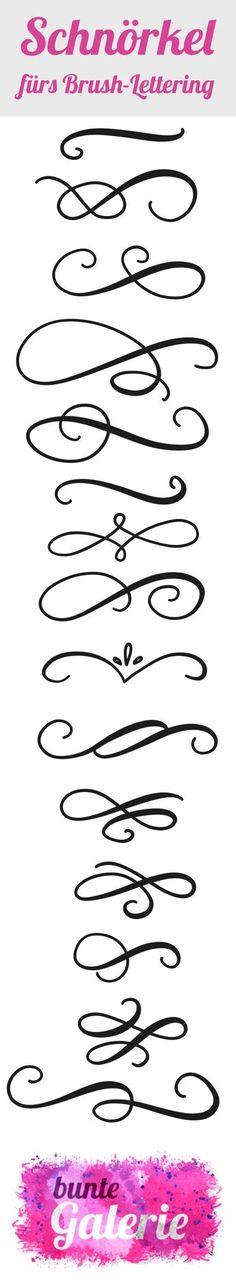 Schnörkel (engl: flourish) geben einem Brush-Lettering erst den richtigen Kick, das gewisse Etwas. So schön sie anzuschauen sind – so leicht kann man sich damit auch vertun. Leider gelingen diese Verzierungen ohne Übung genauso wenig wie das Brush-Lettering selbst. Deshalb widme ich diese Lektion der schönsten Nebensache des Brush-Letterings! Genauso wenig wie bei den Buchstaben …