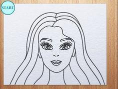 How To Draw Barbie Easy Art Pinterest Barbie Drawing Barbie