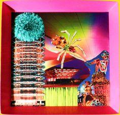 Spider city parachute - 37 x 36.5 cm