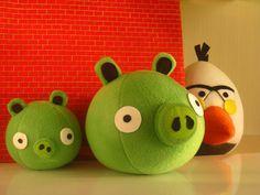 Angry Birds de feltro Festa Angry Birds, Mundo Craft, Plush Pattern, Fabric Toys, Bird Patterns, Bird Toys, Busy Book, Stuffed Toys Patterns, Diy