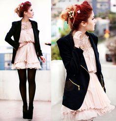 Gorgeous Pleated Chiffon A-line Dress OASAP.com