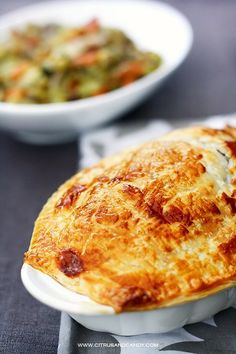 Beef and Red Wine Pot Pie with Braised Cabbage
