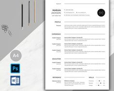Resume template instant download resume template wordresume | Etsy Teaching Resume Examples, Sales Resume Examples, Resume Objective Examples, Hr Resume, Nursing Resume, Resume Help, Resume Action Words, Resume Words, Resume Skills List