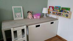 speelhoek Ikea Stuva en steigerhout #kidscorner