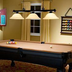 Jarvis Pool Table/Island Light - Bronze | www.pooltablelights.com $279.00