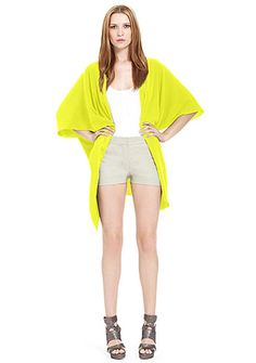 I LOVE CHARTREUSE! Gorgeous cardi. Must have this spring.