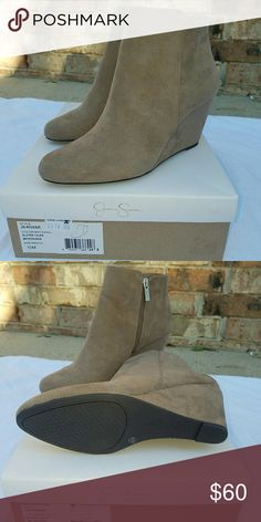 Jessica Simpson Booties Wedges New with tags Never been worn Size 10 Jessica Simpson Shoes Wedges