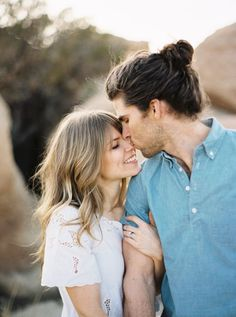 Gorgeous nature engagement session: http://www.stylemepretty.com/california-weddings/joshua-tree/2016/10/25/desert-engagement-session/ Photography: Kyle John - http://www.kylejohnphoto.com/