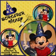 Sorcerer Mickey - MouseScrappers - Disney Scrapbooking Gallery