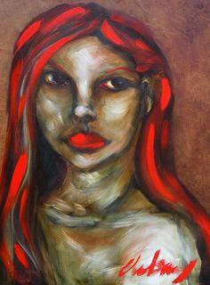 Kelli Dubay Original Fine Art Oil Portrait by Megalomaniart, $450.00