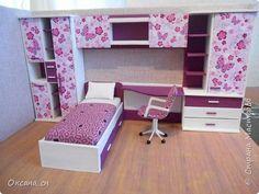 Привет всем! И снова я с игрушечной мебелью год спустя. Сегодня хочу представить мебель для девочки. Возможно кому-то понадобиться мастер-клас, потому постараюсь выложить более подробно и доступно. фото 1