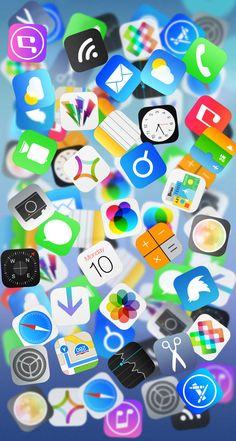 【人気132位】アイコンがいっぱい | iPhone5s壁紙/待受画像ギャラリー