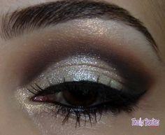 Shimmery silver eyes