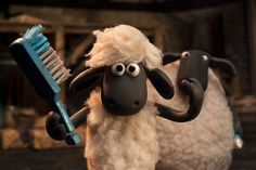 "In this stop-motion animation film, from the studio that made ""Wallace & Gromit,"" the sheep run into trouble in their urban adventure. Shaun The Sheep, Cartoon Tv, Cartoon Drawings, Mary And Max, Timmy Time, Trailer Oficial, Sheep Art, Loyal Dogs, Snoopy"